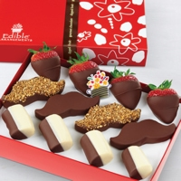 Mustache dipped Fruit Box