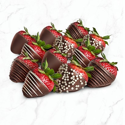 Stuffed and Dipped Strawberries