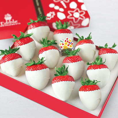 White Chocolate Dipped Strawberries Box