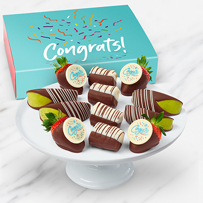 Congratulations Dipped Fruit Box