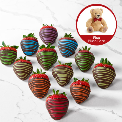 12ct Butterfly dipped fruit box + bear