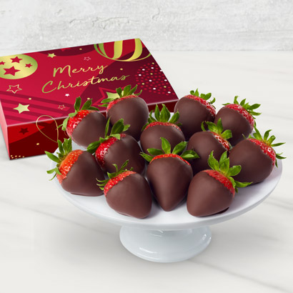 Christmas Chocolate Dipped Strawberries Gift Set