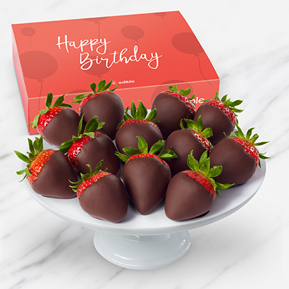 Happy Birthday Chocolate Dipped Strawberries Box