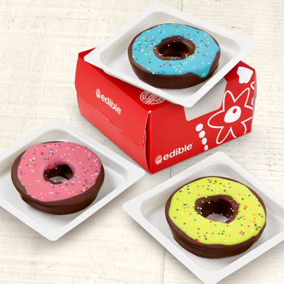 Edible® Donuts - Colorfully Glazed