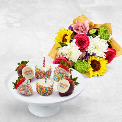 Birthday Bouquet  Berries Box