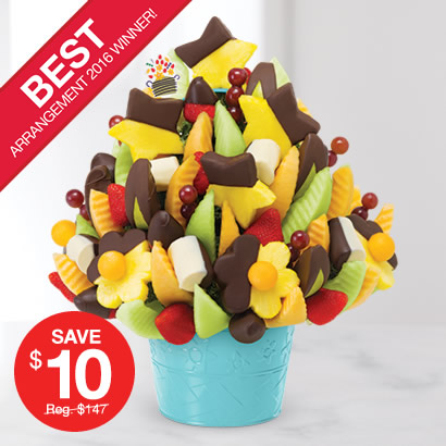 Voted Best Arrangement of 2016! Delicious Celebration® – Dipped Fruit Delight