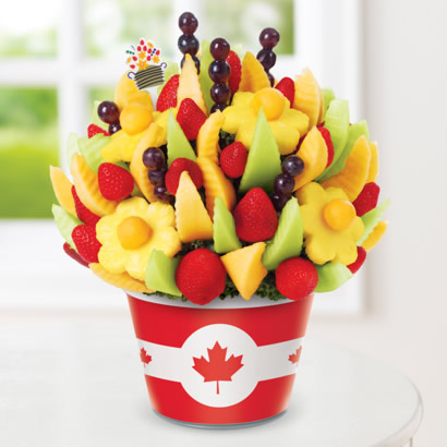 Delicious Fruit Design w/ Canadian Flag Insert