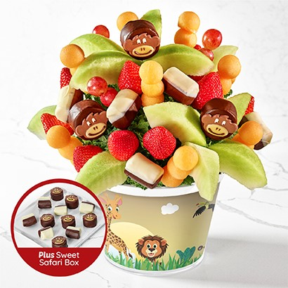 Sweet Safari with Dipped Fruit Box