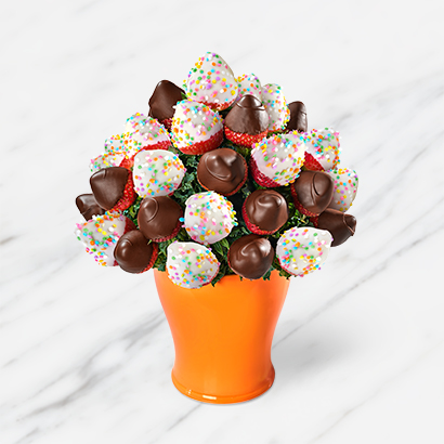 Confetti Chocolate Covered Strawberry Fruit Bouquet
