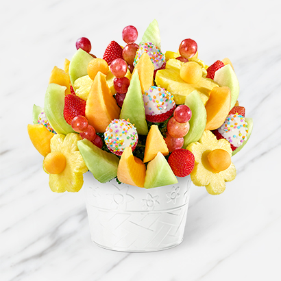 Happy Birthday Delicious Fruit Design with Confetti Berries