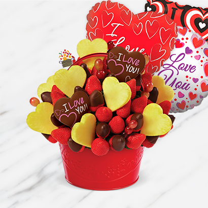 Berry Chocolate Love Bouquet Bundle