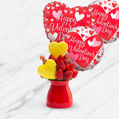 Blooming Hearts Bouquet and Balloon Bundle