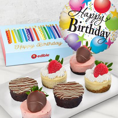 Brownie Cheesecake Birthday Gift Wishes