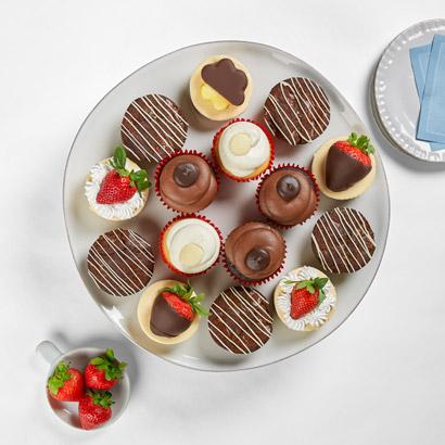 Cupcakes Brownies Cheesecakes Platter