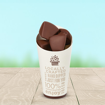 Chocolate Dipped Apple Bites Cone