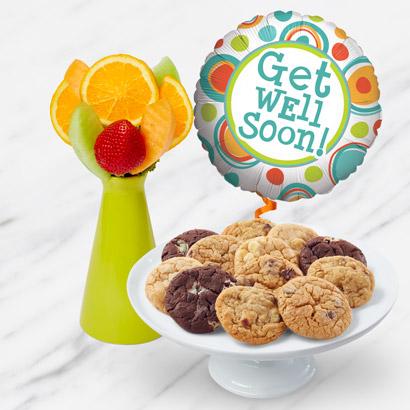 Get Well Soon Fruit & Cookies Bundle