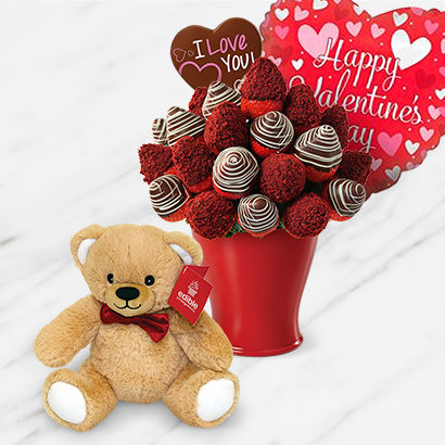 Red Velvet Berry Bouquet Deluxe Bundle