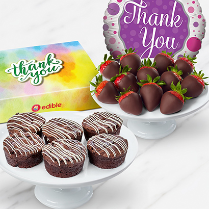 Thank You Brownies And Berries Box