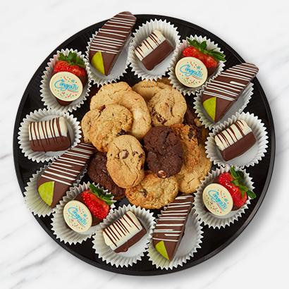 Congratulations Cookies & Fruit Platter