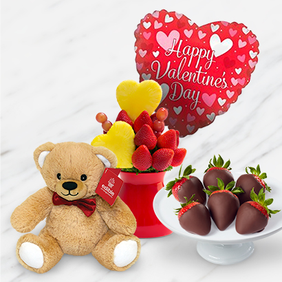 Blooming Hearts Bouquet and Box Deluxe Bundle