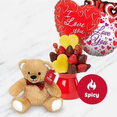 Burning Love Bouquet Deluxe Bundle