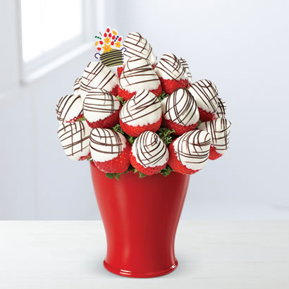 Sweetheart Swizzle Bouquet White Chocolate Edible Arrangements