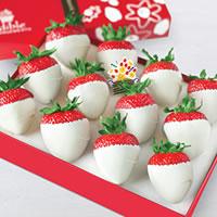 White Chocolate Dipped Strawberries Box