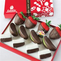 Chocolate Dipped Strawberries, Apples, & Bananas Box