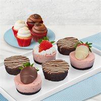 Cheesecake Brownie and Cupcake Trio