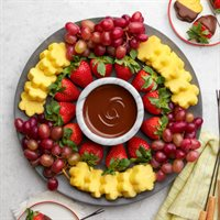 Dip Your Own Fruit  Chocolate