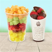 Fresh Fruit Salad & Chocolate Covered Strawberries Cone