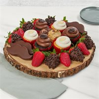 Strawberries and Coffee Treats Platter