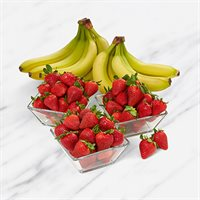 Fresh Strawberries and Bananas Box