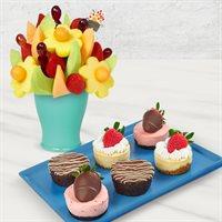 Brownie Cheesecake Bouquet