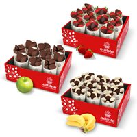 Chocolate Covered Fruit Cone Snack Bundle Of 3