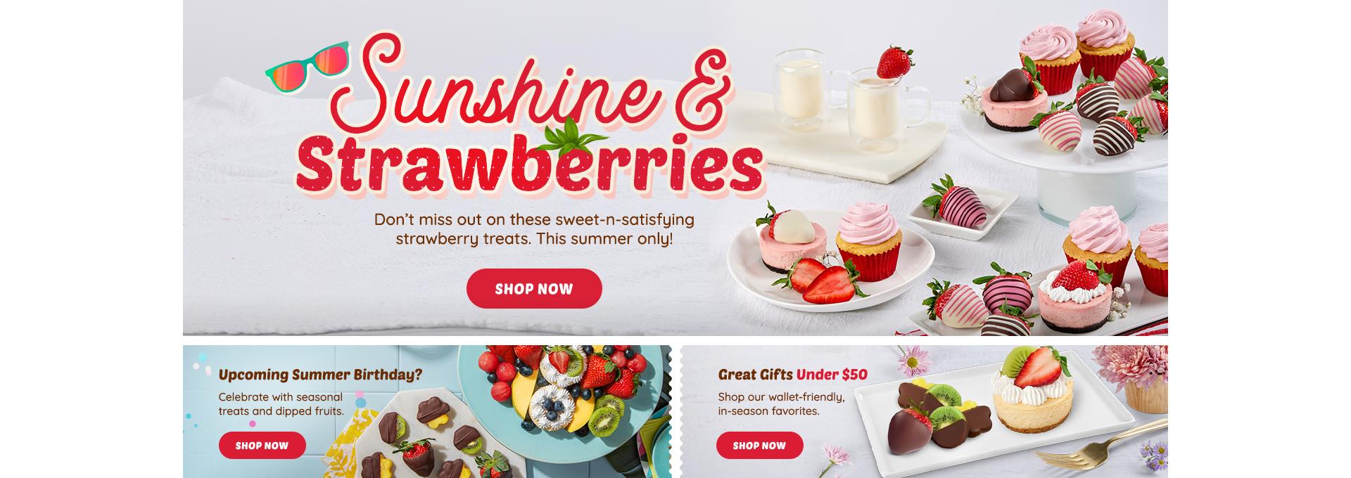 HP DT Strawberry Desserts, Birthday, Under 50