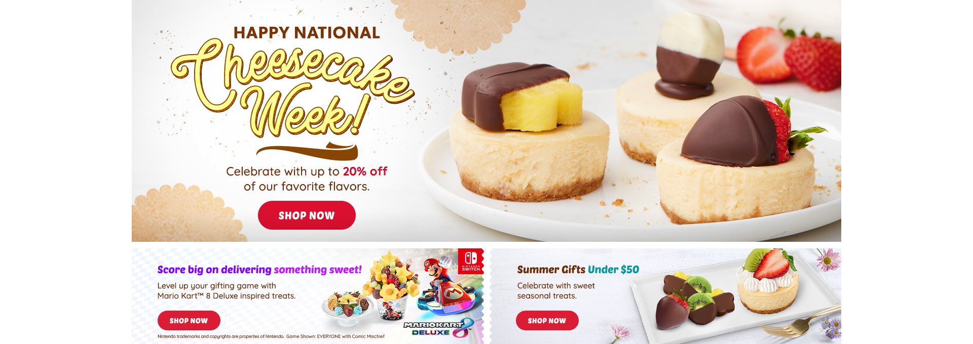 HP DT Cheesecake Gifts, Nintendo Gifts, Under $50