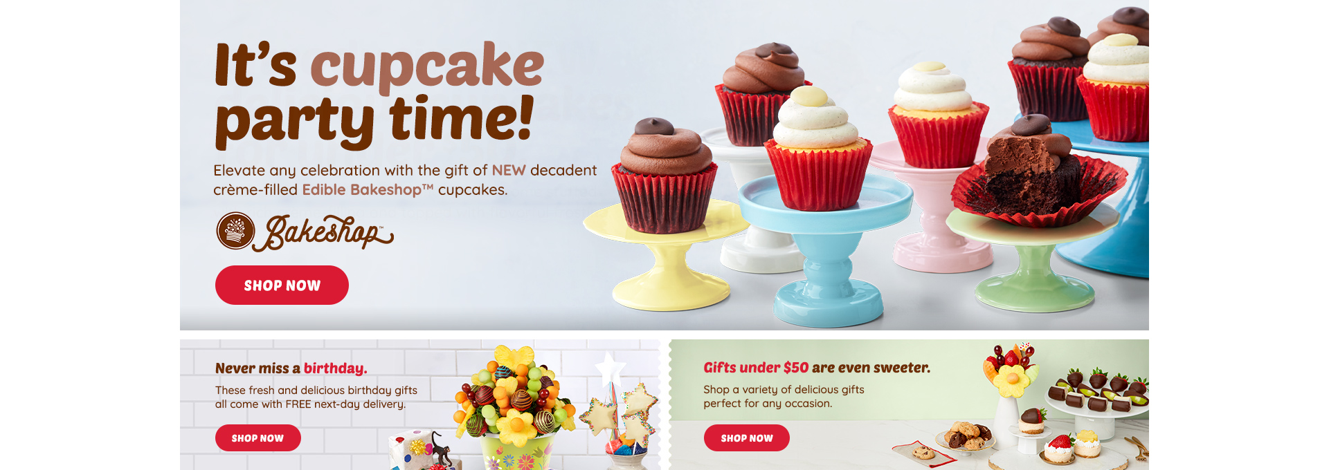 Cupcake launch desktop banner