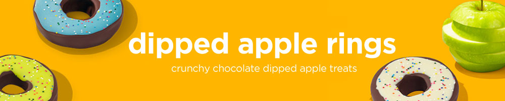 Edible® Dipped Apple Rings are a unique twist on everyone's favorite treat!
